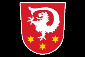 Das Wappen der Gemeinde Untermeitingen.