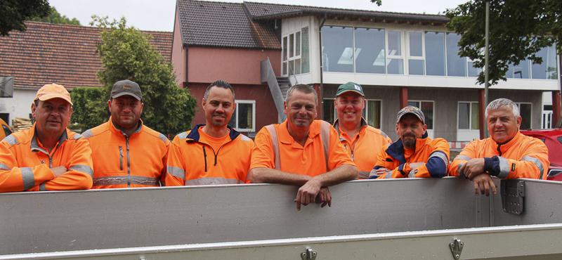 Das Team des Bauhofs in Graben.