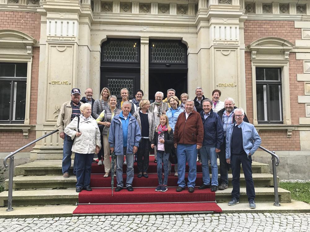 Gruppenbild beim Austausch der Partnergemeinden Klosterlechfeld und Großscheidnitz.