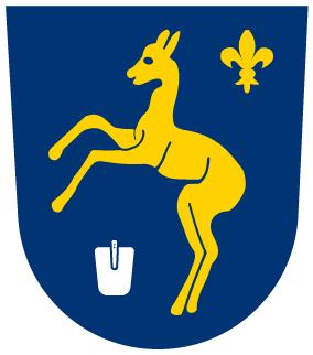 Das Wappen der Gemeinde Graben.
