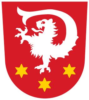 Das Wappen der Lechfeld-Gemeinde Untermeitingen.