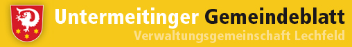 Logo vom Gemeindeblatt Untermeitingen